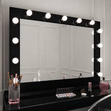 Marilyn Hollywood Mirror In Black Gloss 80 X 100cm