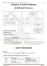 Ipcc Audit Charts Audit Evidence 2018 Studocu