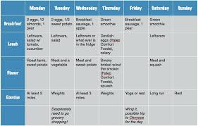 Sample Workout Calendar Interesting Personal Workout Plan Schedule Template Exercise Gcse Example