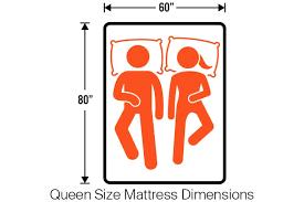 Image Foot Queen Bed Dimensions u003d 60u2033 80u2033 The Queen Size Mattress Tomorrow Sleep Mattress Sizes Guide Twin Twin Xl Full Queen King California King