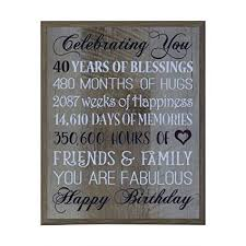 40th birthday gifts for women men wife happy 40th birthday gift ideas for husband wife best
