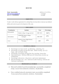 Cover Letter Sample Resumes For Freshers Sample Resumes For
