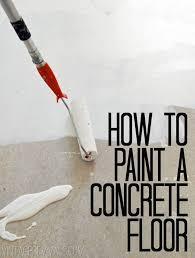 how to paint concrete floors tutorial vintage revivals