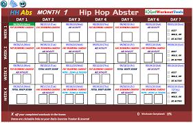 Hip Hop Abs Workout Chart Shaun T Hip Hop Abs Workout Schedule Sport1stfuture Org