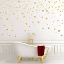 130pieces package stars wall sticker art gold star decals  on gold stars wall art with 130pieces package stars wall sticker art gold star decals small