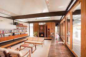 view in gallery sunken living room in minimalist busch home