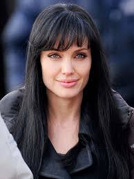 Hairstyles With Blunt Fringe Angelina Jolie Hair Evoloution Styleicons