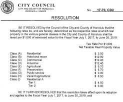 bill 17 70 cd2 fiscal 2017 honolulu tax rates p2