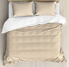 vintage duvet cover set retro style classical striped pattern shabby colors geometric design print decorative bedding set with pillow shams orange cadet
