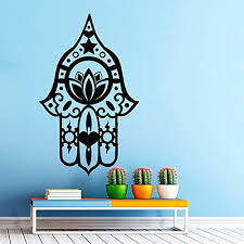 wall decals hamsa hand eye indian buddha yoga fatima mandala ganesh lotus vinyl sticker wall decor murals yoga wall decals amazon uk kitchen home on ganesh wall art uk with wall decals hamsa hand eye indian buddha yoga fatima mandala ganesh
