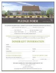 Bpl Fundraising Pledge Form Baldwin Public Library