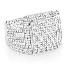 beautiful hip hop diamond rings iced out mens
