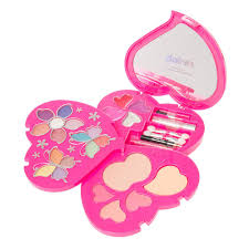 rainbow glitter heart shaped makeup set claire s