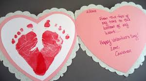 valentine s day card ideas for kids. Interesting Valentine Baby Footprints Heart Card With Valentine S Day Ideas For Kids L