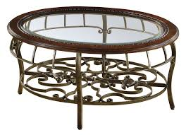 Beautiful Traditional Round Coffee Table Round Beveled Glass Table Traditional Coffee Table With Metal