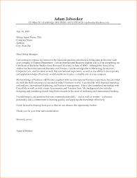 Bold Design Ideas Cover Letter Examples For Internship 8 Best
