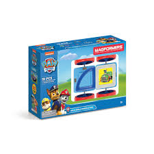 magformers paw patrol 19 piece on a roll vehicle magnetic construction set com