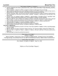 Safety Manager Resume Safety Coordinator Resume Example