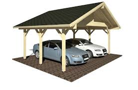 carport robert 20 6 sqm traditional style pitched roof wooden carport for two cars