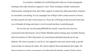 campaign propaganda mini q essay google docs
