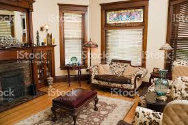 Old Fashioned Living Room British 1950s Style Stock Photo Old Fashioned Living Room Furniture