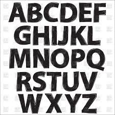 Alphabet Black Letters On White Background Stock Vector Image