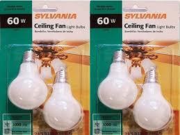 sylvania ceiling fan light bulb 60 watt