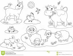 Small Picture Awesome Farm Animals Coloring Pages Images New Printable