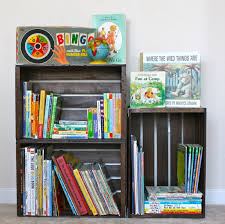 Image of: Crate Book Storage Ideas