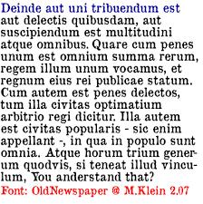 Newspaper Fonts Old Newspaper Types Font Designed By Manfred Klein