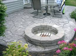 stamped concrete patio with fire pit cost.  Patio Exceptional Home Marvelous Stamped Concrete Patio With Fire Pit Cost 7  Modern  In Stamped Concrete Patio With Fire Pit Cost O