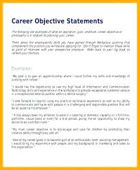 Resume Job Objective Statements Profession Goal Examples For Resume ...