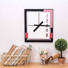 30 cm rectangular wall clock black red