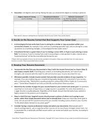 Careerwow Targeted Resume Development Worksheet Pages 1 4 Text