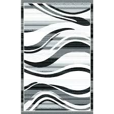 white and gray rugs modern waves silver area rug black grey wave stripes border abstract ter