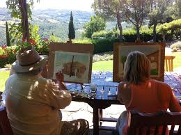 private watercolor or oil painting cl during your holiday in tuscany