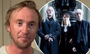 Harry potter and the deathly hallows: The Malfoys Reunite Tom Felton Jason Isaacs And Helen Mccrory Read Harry Potter Daily Mail Online