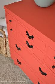 Yesterday I finished painting the dresser for the guest room - I used a  custom mix