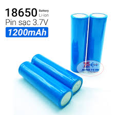 8 viên pin sạc 18650 dung lượng 1200Mah dùng cho box sạc cell laptop đèn pin  quạt..