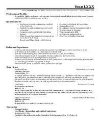 sound engineer intern resume example  miami international    featured resumes