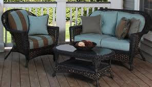 patio set on patio furniture brown blue strips pattern chair with brown and blue