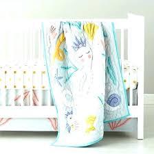 contemporary ocean themed crib bedding ocean themed nursery bedding beach themed baby bedding image of mermaid