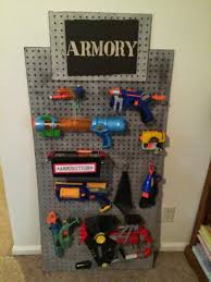 By james on 5 november 2017 i have ordered 2 packs of these for my sons nerf gun rack in his room it looks brilliant. Nerf Storage Ideas A Girl And A Glue Gun