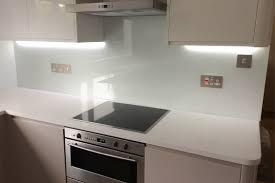 Kitchen Glass Splashback Kitchen Glass Splashback Coloured In Arctic White