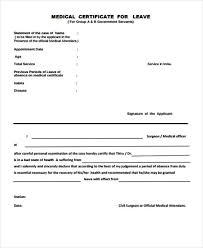 Medical Certificate For Sick Leave New 44 Medical Certificate Samples Free Premium Templates