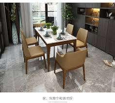 stainless steel dining room set home furniture minimalist modern marble dining table and 6 chairs mesa de jantar muebles edor