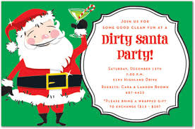 Funny Christmas Party Invitations Dirty Santa Parties Celebrate Simple  Design Cartoons Background Cards Printable Invitation Images ...