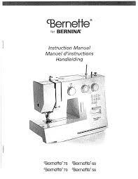 Bernette 50 Sewing Machine Manual