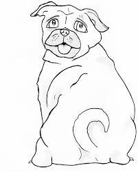 Mopshond Kleurplaat Kleurplaat Hond 8 X 10 Afdrukken En Etsy