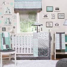 uptown giraffe grey and aqua crib rail guard by crib rail guard protects your teething baby from harmful toxins while keeping the crib looking as